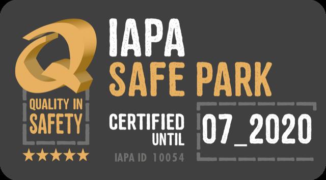 Siegel Sicherer Park IAPA-zertifiziert