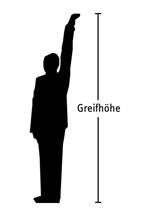 eine Person streckt den Arm nach oben